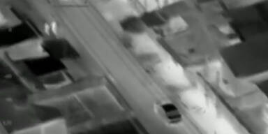 Wilde Jagd: Polizei feuert aus Helikopter