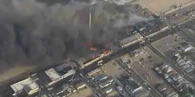 USA: Feuer zerstört berühmte Promenade