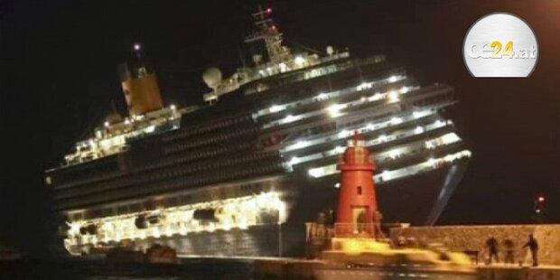 Kreuzfahrtschiff auf Grund gelaufen - 3 Tote