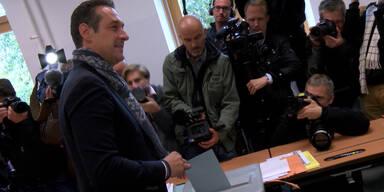 Straches Wahlgang in Wien Landstraße