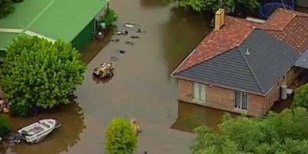 Australien: Flucht vor Hochwasser