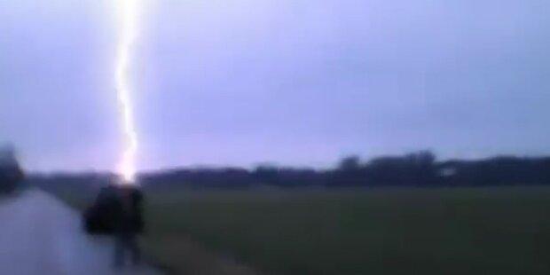 Überlebt: Mann wird von Blitz getroffen