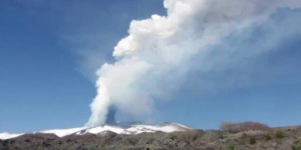 Vulkan Ätna ist wieder ausgebrochen