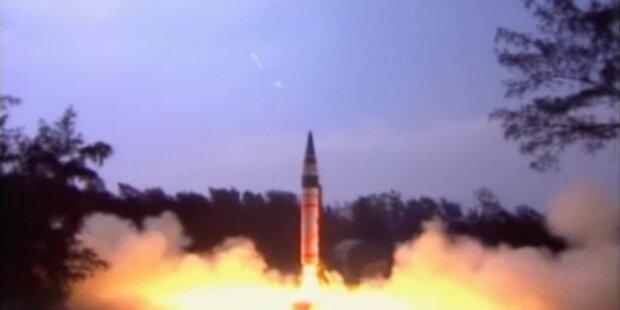 Indien testet Rakete für Atomwaffen