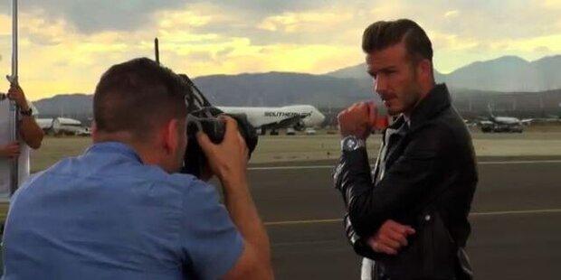 David Beckham bei Breitling Fotoshoot