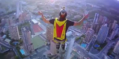 Irrer Basejump vom 52. Stockwerk