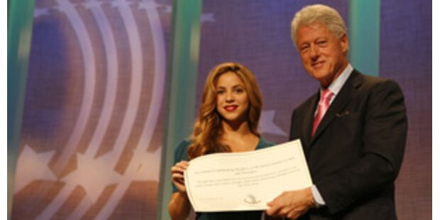 Shakira & Clinton starten 40 Mio. Dollar-Hilfspaket
