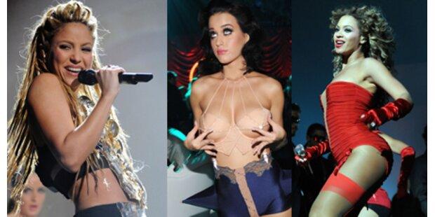Beyonce & Perry megasexy, Gaga schwänzt
