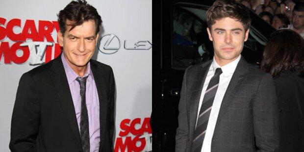 Charlie Sheen schuld an Zac Efrons Absturz