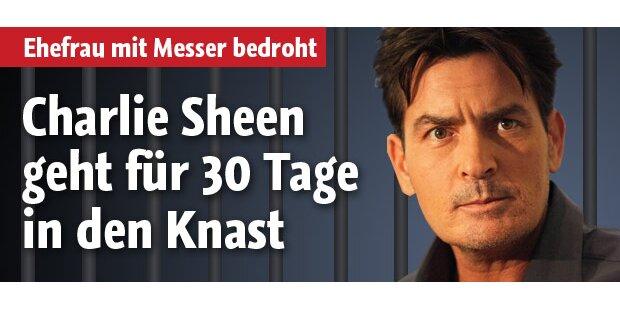 Charlie Sheen: 30 Tage Gefängnis