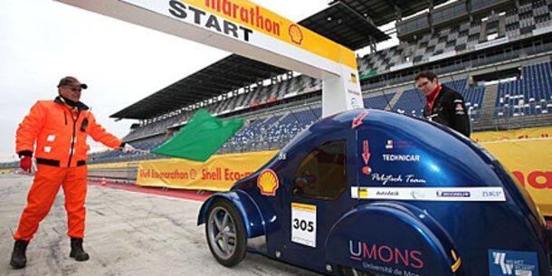 Unterwegs mit einem Liter Kraftstoff