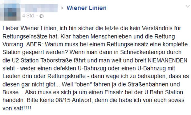 Shitstorm Wiener Linien