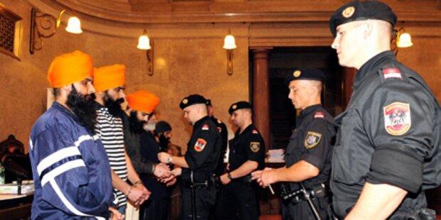 Todesdrohung: Großalarm bei Sikh-Prozess