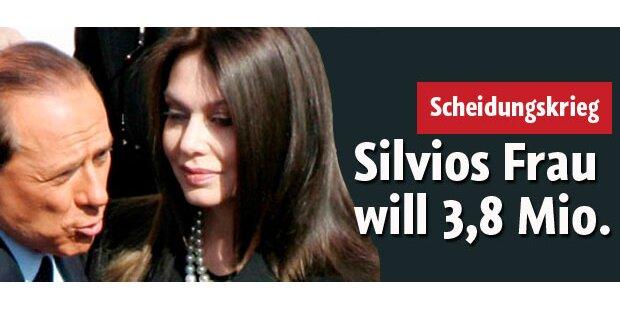 Silvios Frau will 3,5 Mio. pro Monat