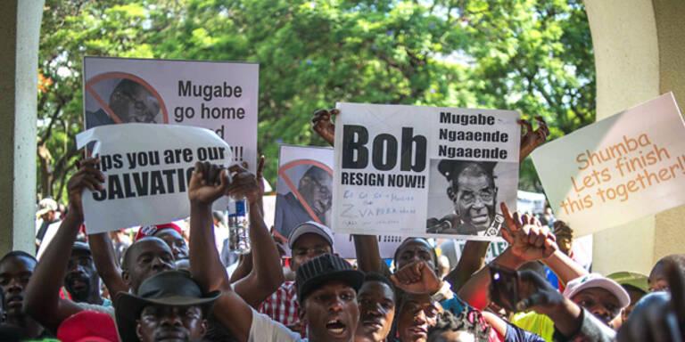 Armee tötet Demonstranten in Simbabwe
