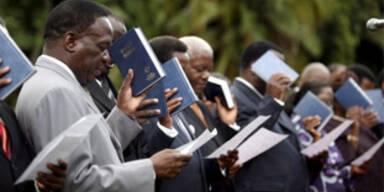 Einheitsregierung in Simbabwe vereidigt