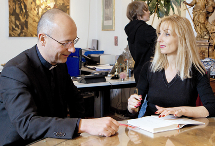 Toni Faber und Elke Päsler im Talk
