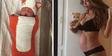 Sarah Stage und ihr Sixpack-Baby