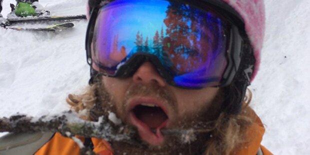 Ast pfählt Gesicht von Skilehrer