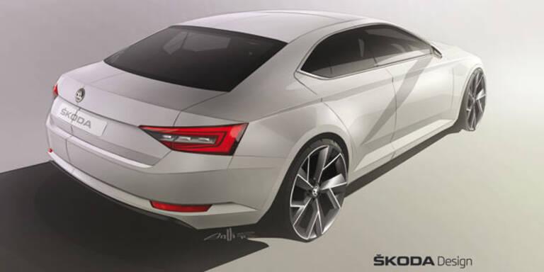 Skoda zeigt Skizzen vom neuen Superb