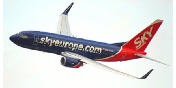 Sky Europe verdoppelt Flüge