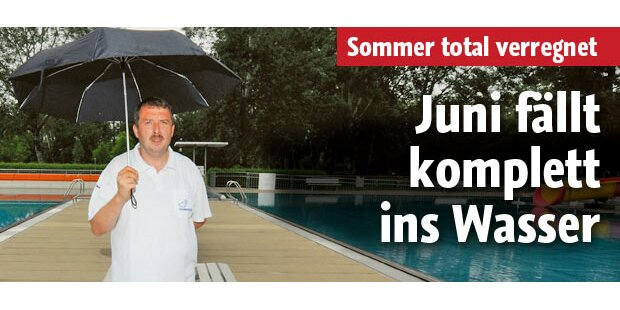 Dieser Sommer fällt ins Wasser
