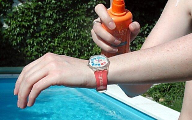 Sonnenschutz nicht zu warm lagern