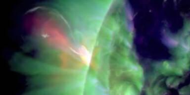 NASA: Gigantische Sonneneruption gefilmt