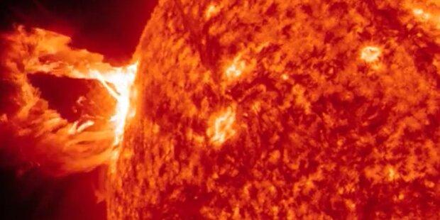 Nächster Sonnensturm schießt ins Weltall