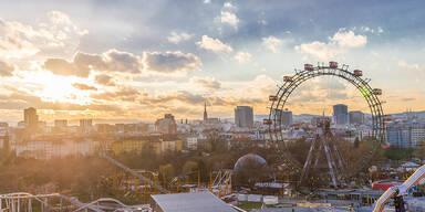 Sonnenuntergang beim Wiener Riesenrad