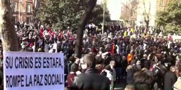 Spanien: Demos gegen Arbeitsmarktreform