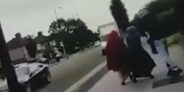 Mann attackiert Musliminnen mit Speck