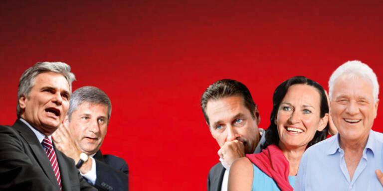 Faymann führt im Kanzler- Duell
