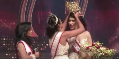 Vorgängerin reißt 'Mrs. Sri Lanka' Krone vom Kopf