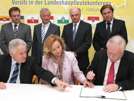 Stabilitätspakt Landeshauptleutekonferenz Fekter