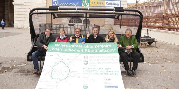 Skurriler PR-Gag um Wiener Stadtseilbahn