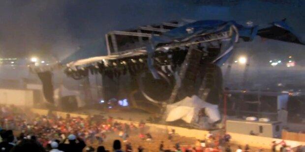 4 Tote: Riesenbühne stürzt auf Publikum