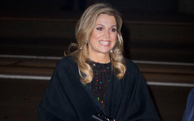 Königin Máxima: Auftritt im Glitzerkleid