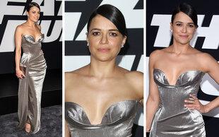 Michelle Rodriguez: Glamourös im Silberlook
