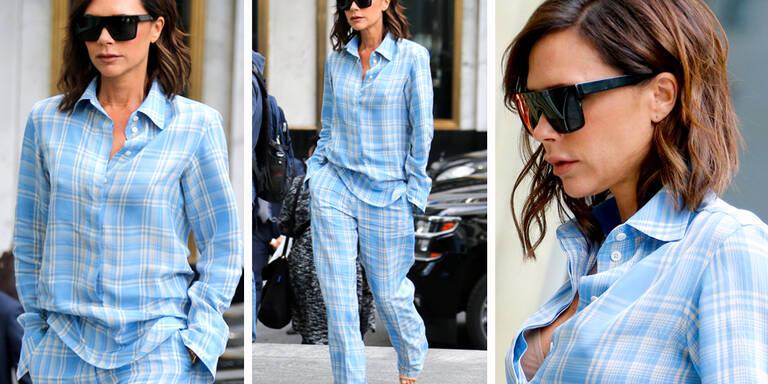 Im Pyjama-Trend unterwegs