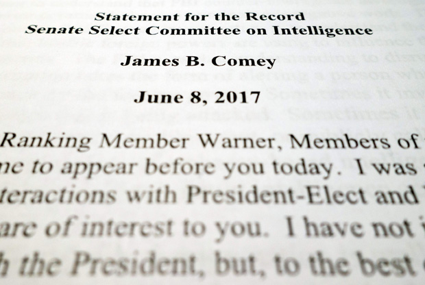 Statement for the Record Comey