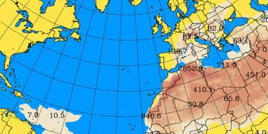 Kommt am Wochenende der Sahara-Staub?