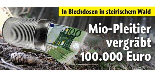 Mio-Pleitier vergräbt 100.000 Euro