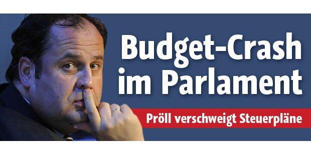 Heftiger Budget-Crash im Parlament