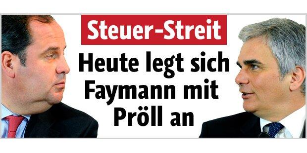 Heute legt sich Faymann mit Pröll an
