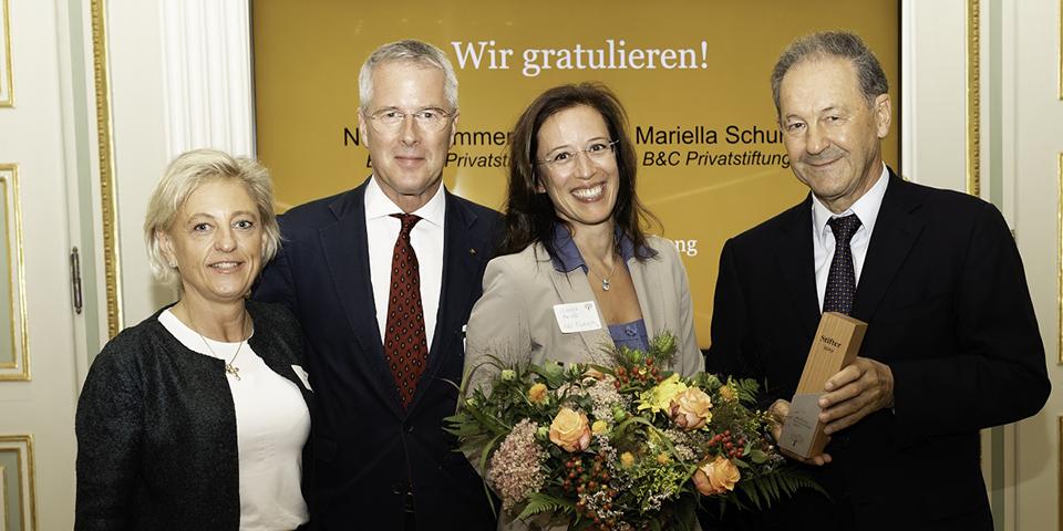 Stifter des Jahres - BC-Channel - K. Turnauer, FK Prüller, M. Schurz, N.Zimmermann