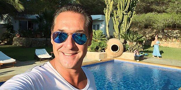 Strache: Ein Selfie aus dem verträumten Ibiza