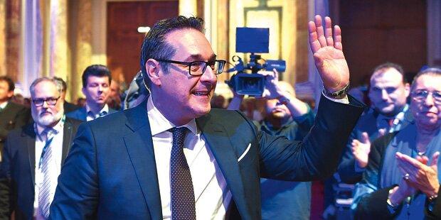 Strache: Koalition nur bei 50 % blau