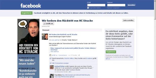 Statt WKR-Seite Anti-Strache-Facebook