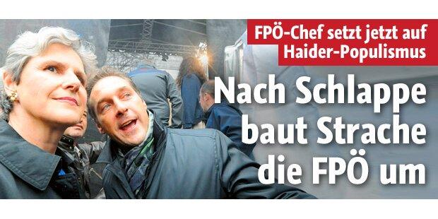 Strache schlägt zurück und baut FP um